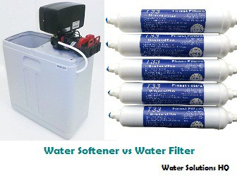 difference between a softener and filter