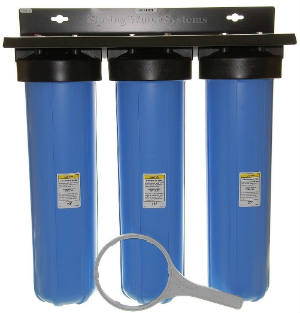 iSpring WKB32B Three Stage 20-Inch Big Blue Whole House Water Filtration System with Fine Sediment and Carbon review
