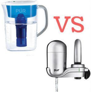 Pitcher Filter VS Faucet Filter